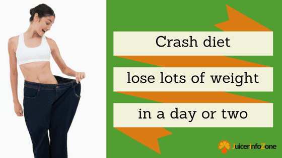 Crash diet – is it possible to lose lots of weight in a day or two?